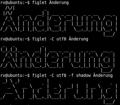 ASCII Art mit Figlet-Generator