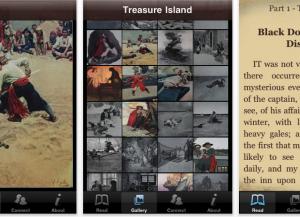 """Vook, Ansichten aus dem Titel """"Treasure Island"""""""
