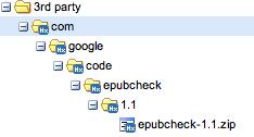 epubcheck ZIP-Datei im eigenen Repositorium