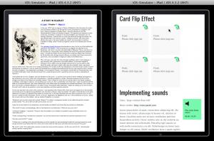 Gestaltung im Vergleich, Baker und Laker im iPad-Simulator