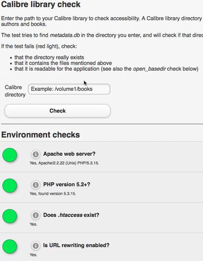 Installationshelfer installcheck.php diagnostiziert Probleme