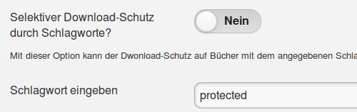 Selektiver Download-Schutz mit Schlagworten