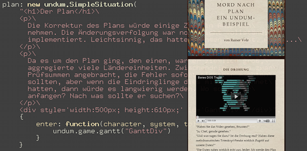 Undum, interaktive Texte mit JavaScript