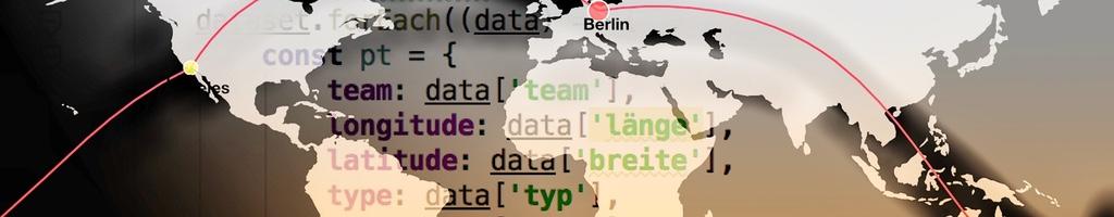 Reiserouten mit DataMaps illustriert